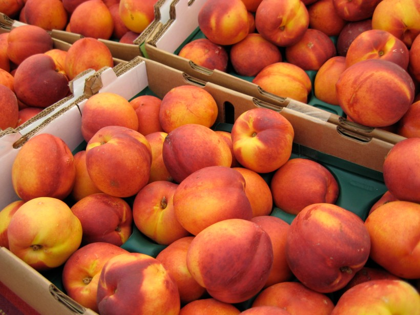 Nectarines are so good right now. I'm a big fan of the white peaches and white nectarines.