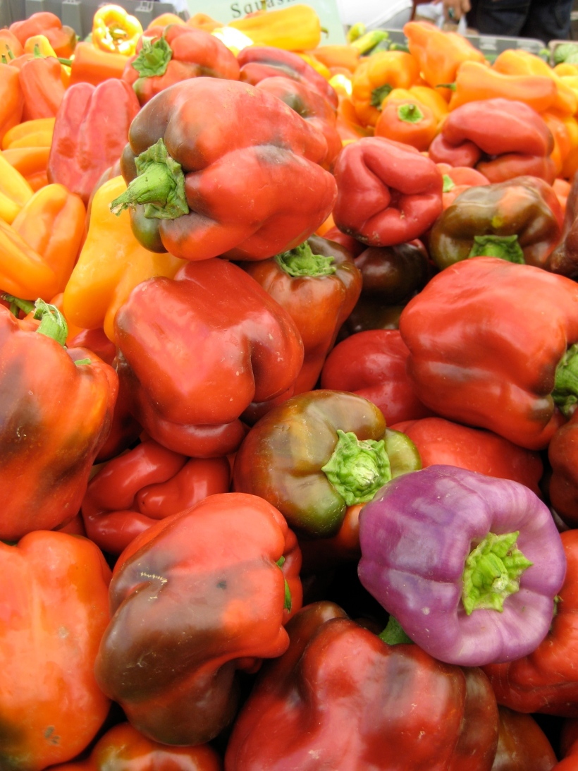 A rainbow of bell peppers...