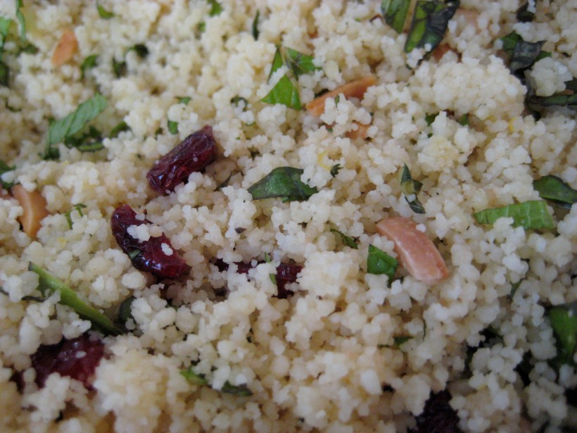 A close-up shot of the couscous