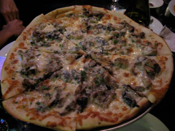 The shittake and oyster mushroom pizza was awesome.