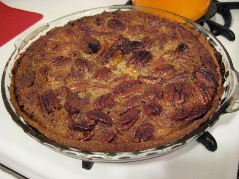 Pumpkin pecan pie (Thanksgiving, 2008)