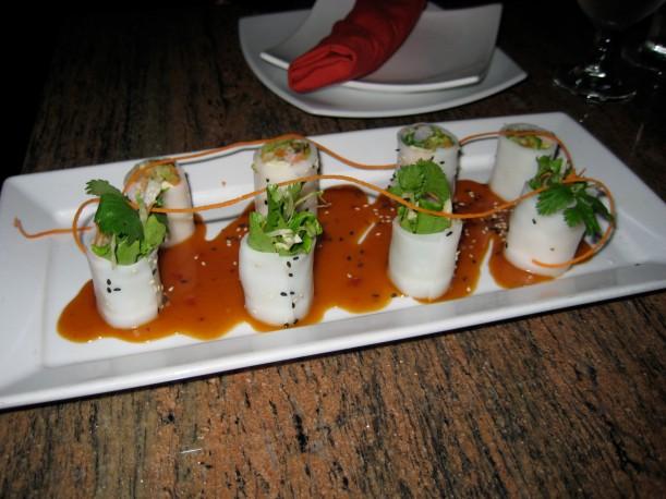 Fresh rolls at Osha