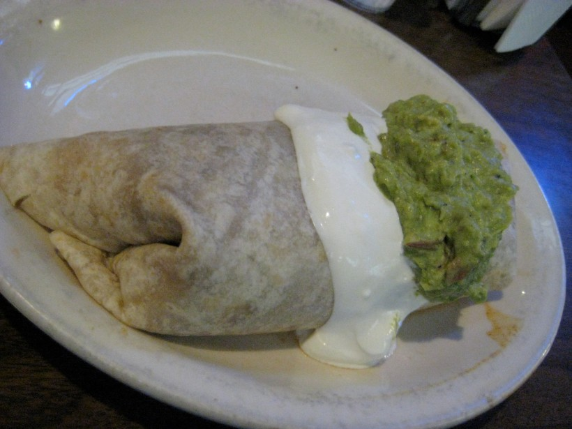 The super burrito.  Almost as big as my head.