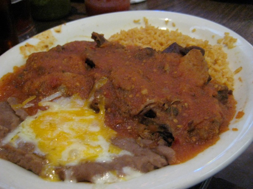The tour left ZF hungry for more chocolate, so he ordered the enchiladas with mole sauce.  It was really good; I think I might have to order it next time.