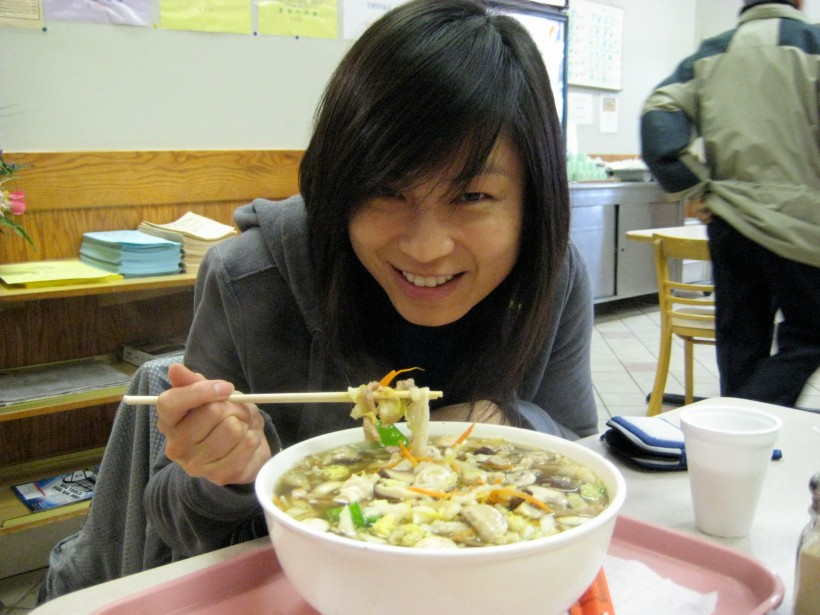 This bowl of noodles was way bigger than my head!