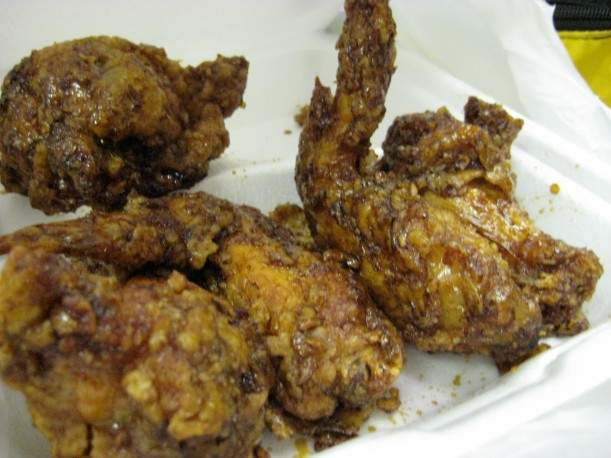 They don't look super appetizing, but trust me when I say that this fried chicken was good!