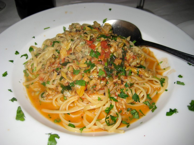 Linguini with clam sauce.
