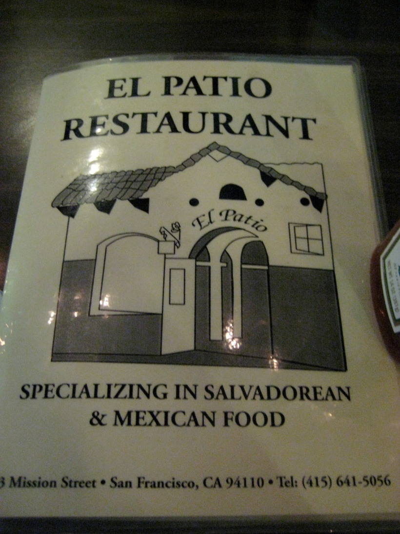 Aren't laminated menus so homey and old-school?