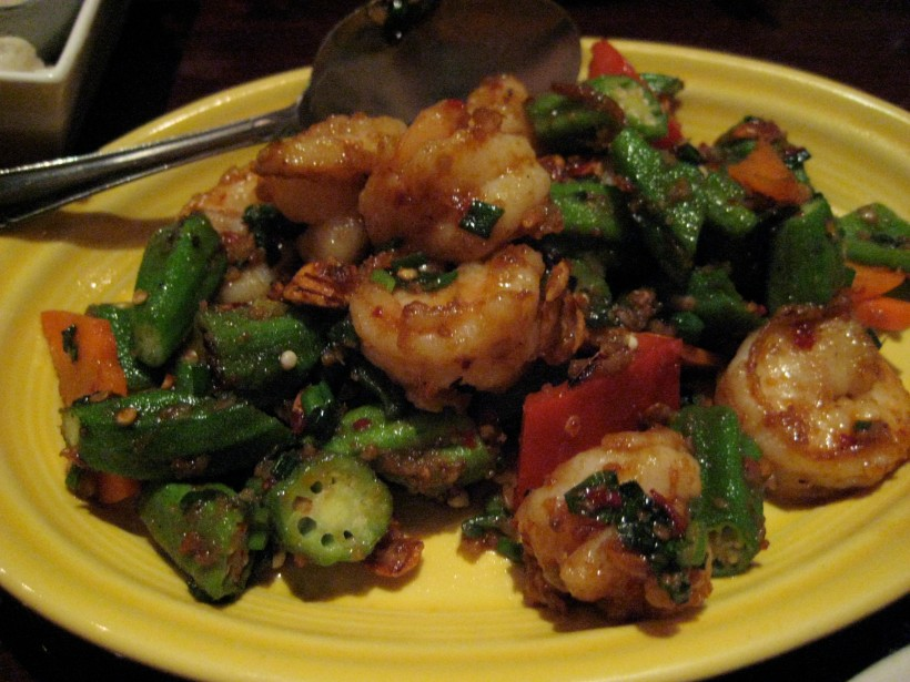 Shrimp with Okra