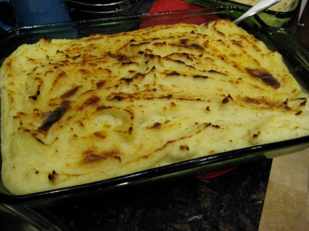 Mashed potatoes (one of two pans).