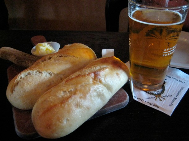 Warm bread and beer.  Mmm...