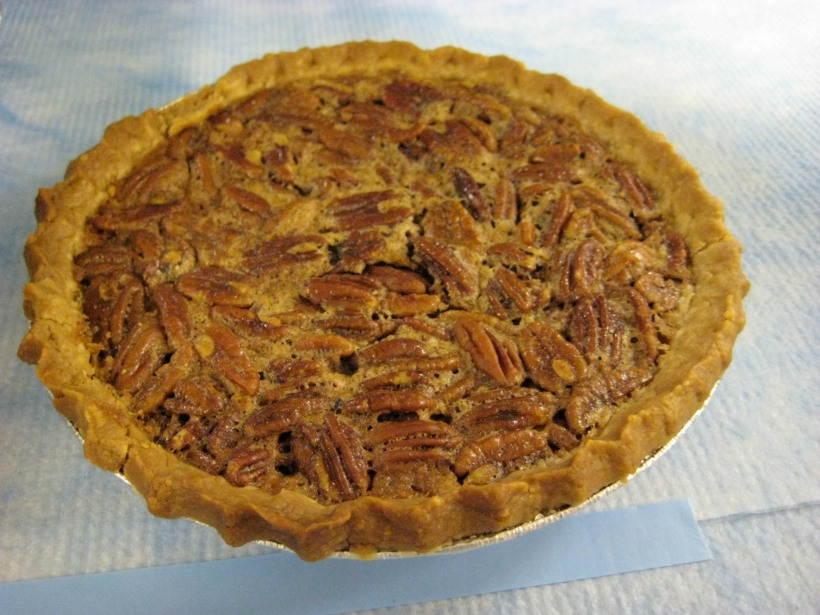 Homemade pecan pie -- the only kind of dessert JY likes.