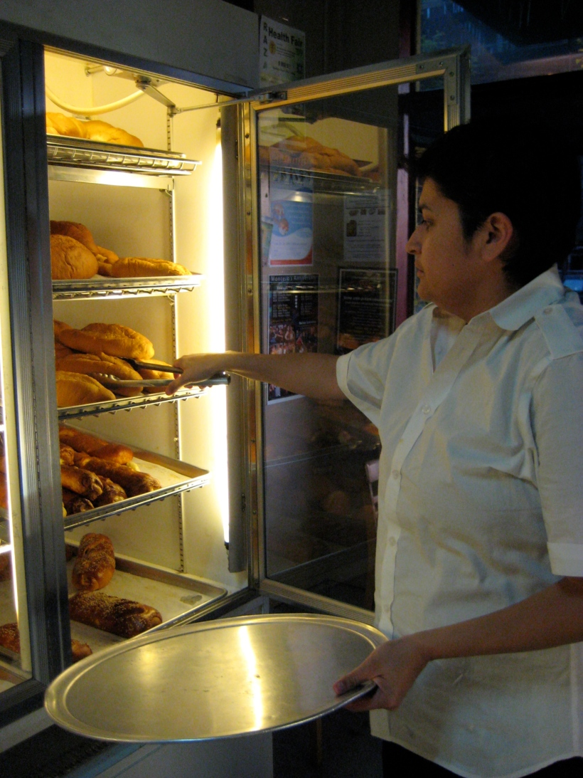 Selecting the pastries