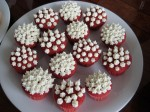 The cutest mini red velvet cupcakes, made by M.