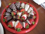 Chocolate covered strawberries, also made by M!
