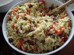 The Mediterranean Orzo Salad -- my second favorite.