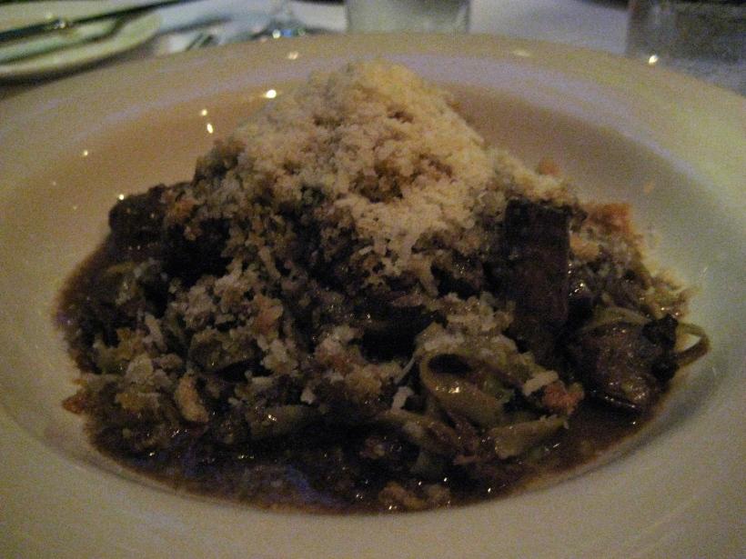Dark and savory pasta.