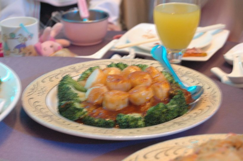 Scallop with Brocolli