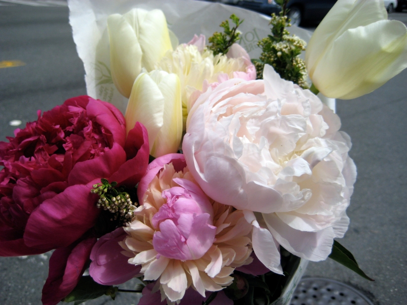 A beautiful bouquet for the bargain price of $8.