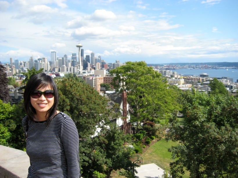 A beautiful view of Downtown Seattle from Kerry Park