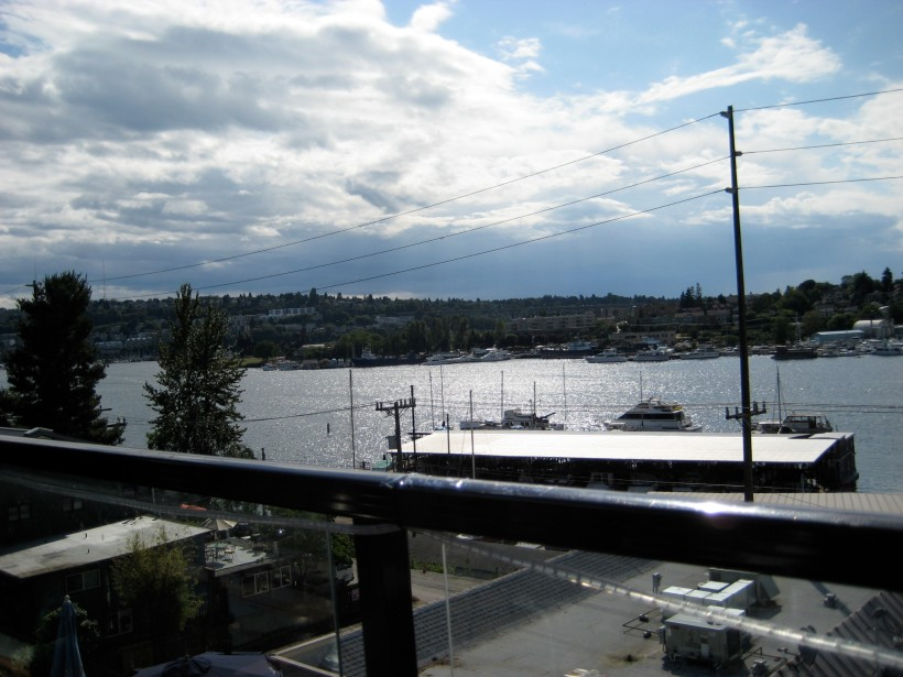View from my chair at the Eastlake Bar and Grill. Lovely.