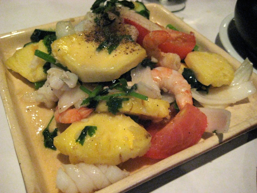 Seafood sautee with