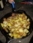 Potatoes + olive oil + rosemary = delicious!