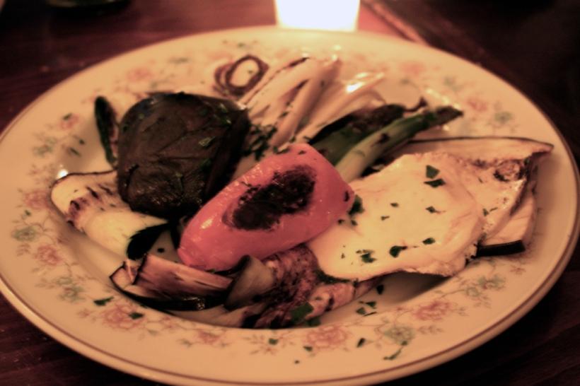 Grilled veggies and mozarella
