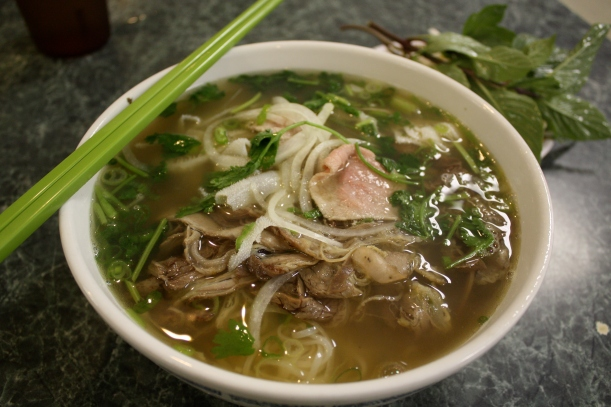 The combination pho at Pho Saigon II.