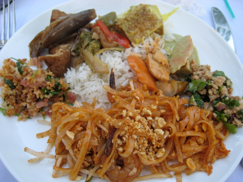 Dinner was a Thai food buffet. I got a little of everything, and a lot of pad thai, of course!