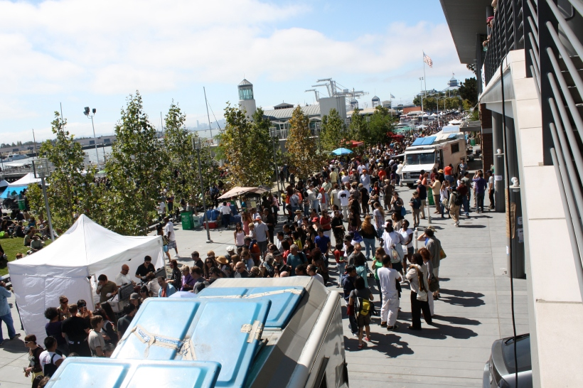 Tons of people came out to enjoy the sunshine and great food at the Eat Real Festival.