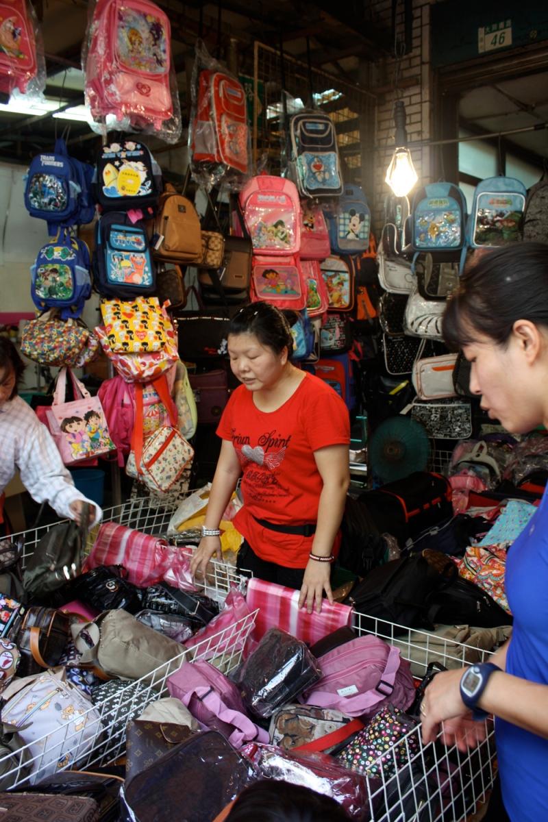Purses, wallets, bags -- all super cheap.