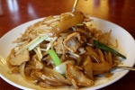 We finish every dim sum meal with noodles. This is pork chow fun.