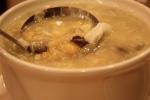 Corn & mushroom chicken soup