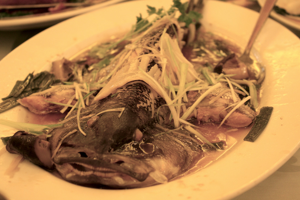 Steamed whole fish. Again, I've had better.