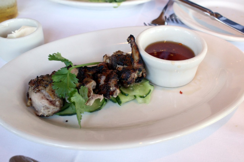 The quail. Meh, in our opinion.
