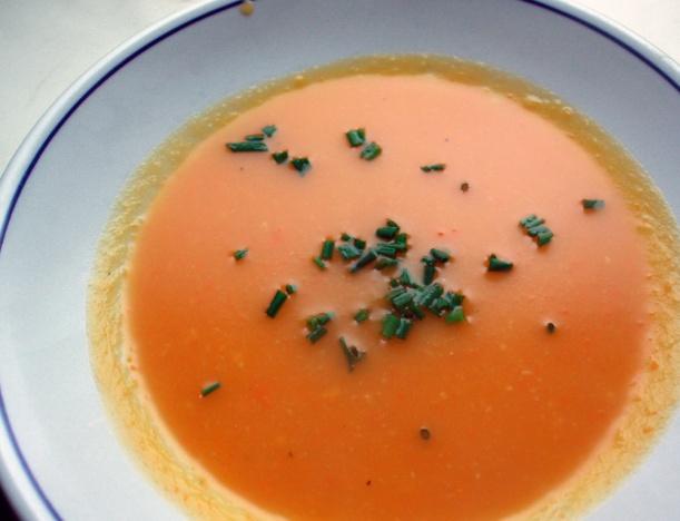 Butternut squash veggie soup.