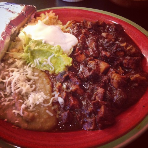 The best chicken mole I've had in the U.S. (The best mole ever was in Mexico - of course.)